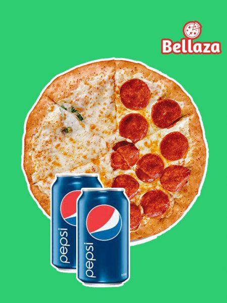 Combo 04: 1 Large Pizza + 1 Pepsi 350ml + 1 Pepsi 350ml
